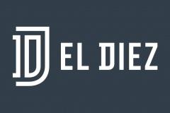 EL DIEZ logotipo horizontal negativo